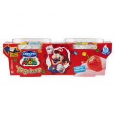 DANONE-Danone Yogoloso Yogurt con Fragola frullata Super Mario 2 x 110 g