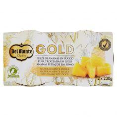 DEL MONTE-Del Monte Gold Pezzi di Ananas in Succo 2 x 230 g