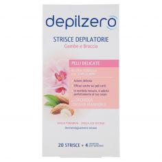 DEPILZERO-depilzero Strisce Depilatorie Gambe e Braccia 20 Strisce + 4 salviettine