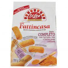 FATTI IN CASA-Di Leo Fattincasa Gusto Completo con Curcuma, Soia e Farina meno raffinata 700 g