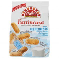 Di Leo Fattincasa Gusto Equilibrato con Latte Lucano e Farina meno raffinata 700 g