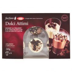 Coop-Dolci Attimi Dessert al Tiramisù e al Cioccolato con Cacao dell'Ecuador 6 x 40 g
