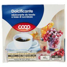 Coop-Dolcificante edulcorante da tavola a base di sucralosio 40 x 1 g