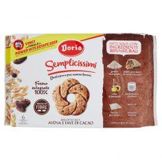 DORIA-Doria Semplicissimi Biscotto alla Avena e Fave di Cacao 280 g