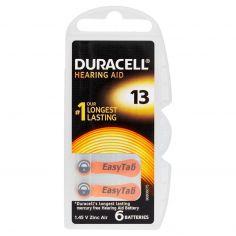 Duracell Hearing Aid 13 1.45 V Zinc Air 6 pz