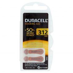 Duracell Hearing Aid 312 PR41 1.45 V Zinc Air 6 pz