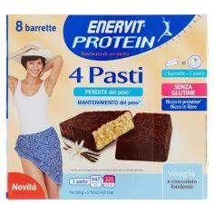 ENERVIT-Enervit Protein 4 Pasti Vaniglia a cioccolato fondente 8 x 27 g