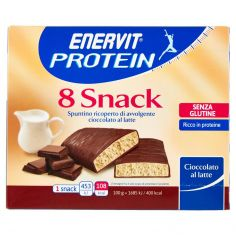 ENERVIT-Enervit Protein 8 Snack Cioccolato al latte 8 x 27 g