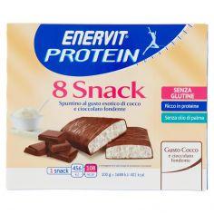 ENERVIT-Enervit Protein 8 Snack Gusto Cocco e cioccolato fondente 8 x 27 g