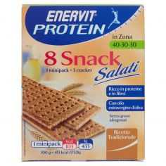 ENERVIT-Enervit Protein in Zona 40-30-30 8 Snack salati ricetta tradizionale 8 x 25 g