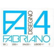 Fabriano Disegno FA/4 blocco 20 fogli 24x33 cm liscio