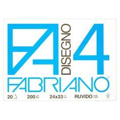 Fabriano Disegno FA/4 blocco 20 fogli 24x33 cm ruvido
