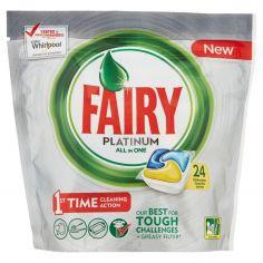 FAIRY-Fairy Platinum Detersivo in Caps per Lavastoviglie, Confezione da 24 pastiglie, Limone