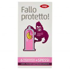 Coop-Fallo protetto! Preservativi Lubrificati + Spessi 6 pz