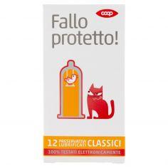Coop-Fallo protetto! Preservativi Lubrificati Classici 12 pz