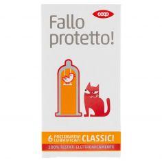Coop-Fallo protetto! Preservativi Lubrificati Classici 6 pz
