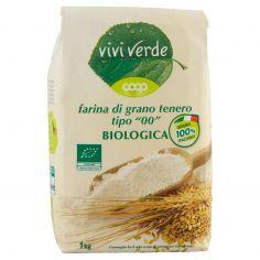 """Coop-farina di grano tenero tipo """"00"""" Biologica 1 kg"""