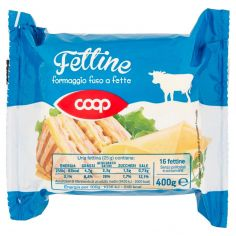 Coop-Fettine formaggio fuso a fette 16 fettine 400 g