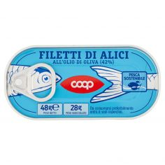 Coop-Filetti di Alici all'Olio di Oliva (42%) 48 g
