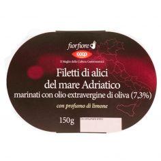 Coop-Filetti di alici del mare Adriatico marinati con olio extravergine di oliva (7,3%) 150 g
