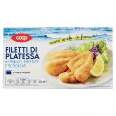 Coop-Filetti di Platessa Impanati, Prefritti e Surgelati 300 g