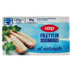 Coop-Filetti di Sgombro al naturale 125 g