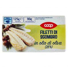 Coop-Filetti di Sgombro in olio di oliva (28%) 125 g