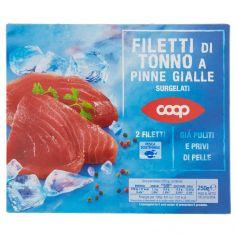 Coop-Filetti di Tonno a Pinne Gialle Surgelati 2 Filetti 250 g