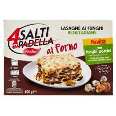 4 SALTI AL FORNO-Findus 4 Salti in Padella al Forno Lasagne ai Funghi Vegetariane 600g