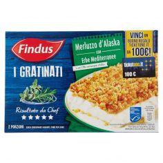 I GRATINATI-Findus I Gratinati Merluzzo d'Alaska con Erbe Mediterranee 380 g