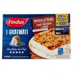 I GRATINATI-Findus I Gratinati Merluzzo d'Alaska con Funghi Champignon e Galletti 380 g