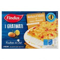 I GRATINATI-Findus I Gratinati Merluzzo d'Alaska con Patate e Rosmarino 380 g