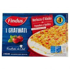 I GRATINATI-Findus I Gratinati Merluzzo d'Alaska con Pomodoro e Basilico 380 g