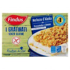 FINDUS-Findus I Gratinati Merluzzo d'Alaska con Prezzemolo e Limone Senza Glutine 380 g
