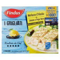 FINDUS-Findus I Grigliati Merluzzo d'Alaska con Limone e Pepe Nero 260 g