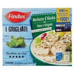FINDUS-Findus I Grigliati Merluzzo d'Alaska con Timo e Origano 260 g