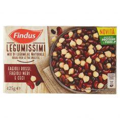 FINDUS-Findus Legumissimi - Mix di Legumi al Naturale - Fagioli Rossi, Fagioli Neri e Ceci 425g