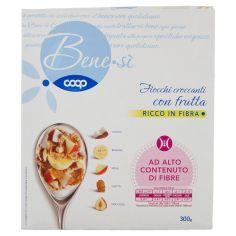 Coop-Fiocchi croccanti con frutta Cocco, Banana, Mela, Uvetta, Nocciola 300 g