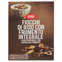 Coop-Fiocchi di Riso con Frumento Integrale e Orzo Integrale con Cioccolato Fondente 300 g