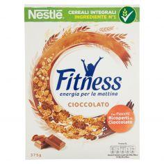 FITNESS-FITNESS CIOCCOLATO CEREALI fiocchi di frumento e fiocchi ricoperti di cioccolato al latte 375g