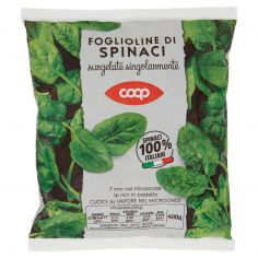 Coop-Foglioline di Spinaci surgelate singolarmente 400 g