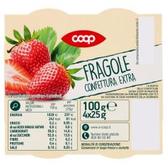 Coop-Fragole Confettura Extra 4 x 25 g