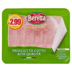 BERETTA-Fratelli Beretta Fresca Salumeria Prosciutto Cotto Alta Qualità 120 g