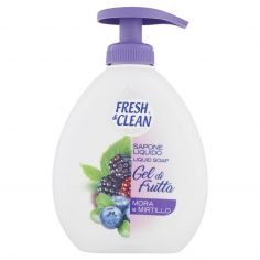FRESH&CLEAN-Fresh & Clean Sapone Liquido Gel di Frutta Mora e Mirtillo 300 ml