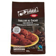 Coop-Frollini al Cacao con Gocce di Cioccolato Fondente Extra 400 g