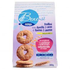 Coop-Frollini con fiocchi di orzo e farina di avena 300 g