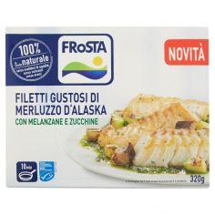 FROSTA-Frosta Filetti Gustosi di Merluzzo d'Alaska con Melanzane e Zucchine 320 g