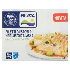 FROSTA-Frosta Filetti Gustosi di Merluzzo d'Alaska con Zucchine e Capperi 320 g