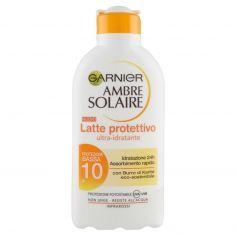 AMBRE SOLAIRE-Garnier Ambre Solaire Protezione solare, Latte protettivo IP 10 con burro di Karitè, 200 ml