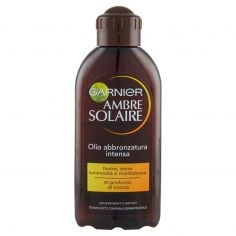 AMBRE SOLAIRE-Garnier Ambre Solaire Protezione solare, Olio abbronzatura intensa IP 2 al profumo di cocco, 200 ml
